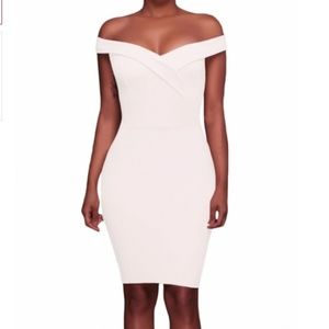 Dresses & Skirts - White Off Shoulder Bodycon Dress